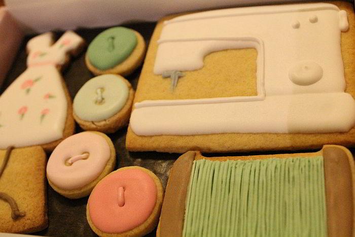 Biscuits sur commande dans une boite cadeau